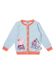Girls Blue Peppa Pig Cardigan (1 - 5 years)