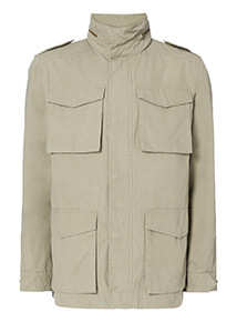 Khaki Lightweight Parka Coat