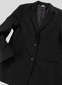 Girls' Fit Black Stain Resistant Blazer (10-16 years)