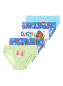 5 Pack Multicoloured Hey Duggee Briefs (1.5-6 years)