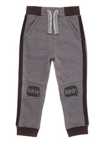 Grey Rah Boo Knee Print Joggers (9 months-6 years)