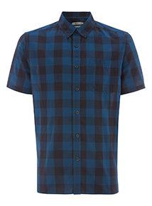 Blue Gingham Regular Fit Shirt