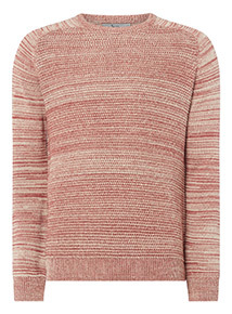 Red Seed Stitch Raglan Sleeve Jumper