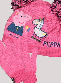 Peppa Pig Unicorn Hat & Glove Set (1-9 Years)