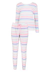 Multicoloured Stripe Pyjama Set
