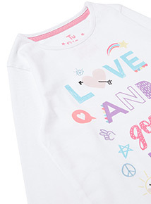 2 Pack Love and Good Vibes Pyjamas (1.5-12 years)