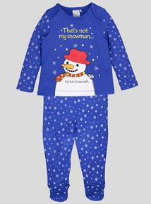 Christmas Usborne 'That's not my snowman' Pyjama Set (Newborn - 18 months)