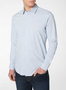 Floral Slim Fit Shirt With Stretch