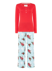 Holly Print Pyjama Set