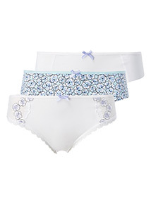 3 Pack Embroidered Brazilian Briefs