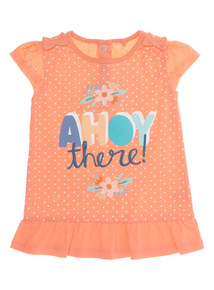 Coral Ahoy There Tee (0 - 24 months)
