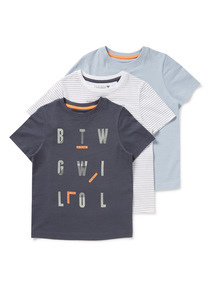3 Pack Short Sleeve T-Shirts (3-14 years)