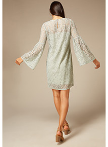Online Exclusive Grey Premium Lace Embroidered Dress