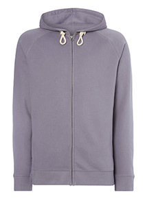 Blue Zip Through Hoodie