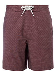 Dark Red Printed Board Shorts