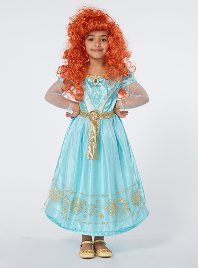 Kids Turquoise Disney Merida Costume (3-10 Years)