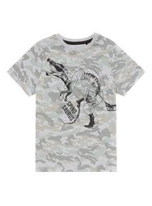Khaki Dinosaur Print Tee (3-12 years)