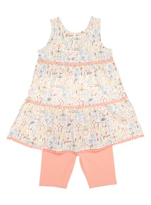 Multicoloured Dress And Leggings Set (9 months - 6 years)
