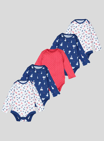 Multicoloured Mother Goose Bodysuits 5 Pack (Newborn - 3 years)