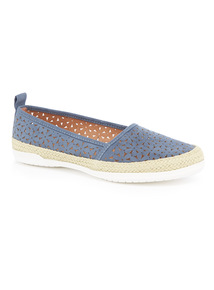 Floral Laser Cut Out Espadrilles