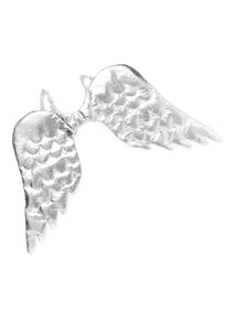 Silver Christmas Wings