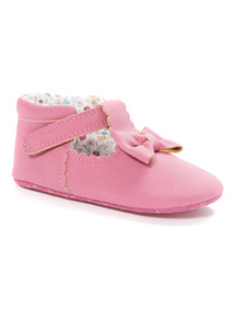 Pink Bow Detail Shoes (0-24 months)