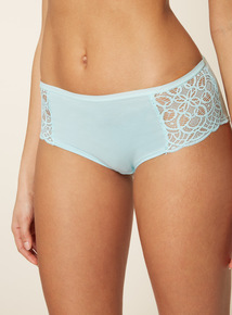5 Pack Multicoloured Lace Side Shorts