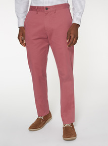 Online Exclusive Pink Straight Chinos