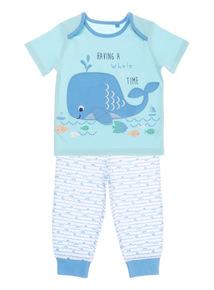 Blue Seabed PJ Set (0 - 24 months)