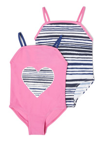 2 Pack Pink Stripe and Heart Costumes (3-14 years)