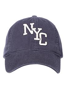 Navy NYC Embroidered Appliqué Cap