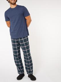 Navy Checked Pyjama Set