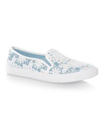 Blue Crochet Skater Shoes