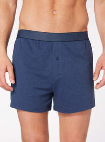 Blue Marl Jersey Boxers 3 Pack