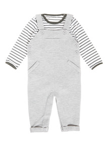 Multicoloured Jersey Dungaree And Bodysuit Set (0-24 months)