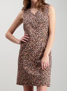 7d50e938fef Black Abstract Animal Print Ponte Shift Dress