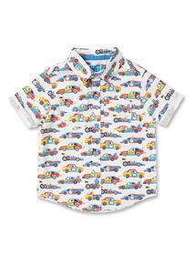 Multicoloured Car Print Shirt (9 months-6 years)