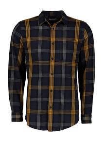 Navy & Mustard Check Regular Fit Shirt