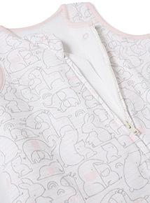 Pink Animal Print Sleeping Bag (0-24 months)