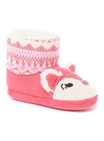 Pink Novelty Slipper Boot