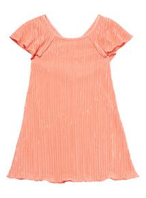 Coral Plisse Dress (3 - 12 years)