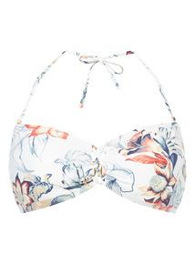 Amazon Floral Bandeau Bikini Top