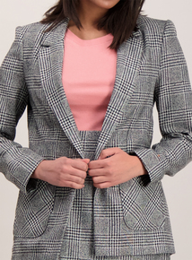 Monochrome Boucle Check Jacket