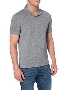 Grey Revere Collar Polo