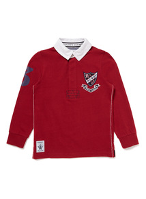 Red Rugby Top (3-14 years)