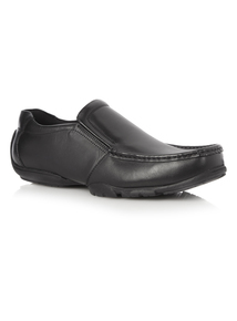 Black Leather Wallaby Shoes