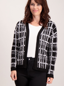 Black and White Check Cardigan
