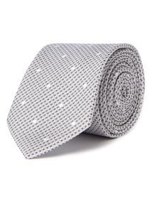 Silver Spot Textured Tie