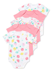 5 Pack Pink Fruits Bodysuits (Newborn - 36 months)