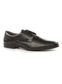 Black 'Sole Comfort' Leather Lace-Up Shoes